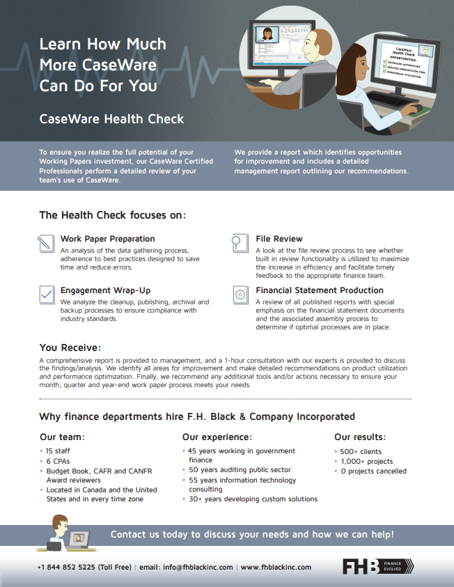 CaseWare Health Check Brochure