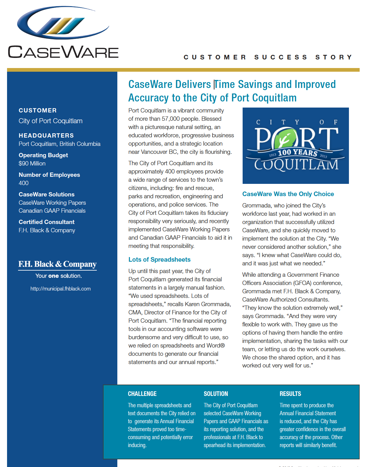 City of Port Coquitlam Success Story