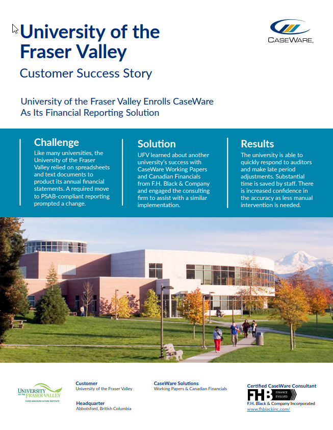 UFV Success Story Cover