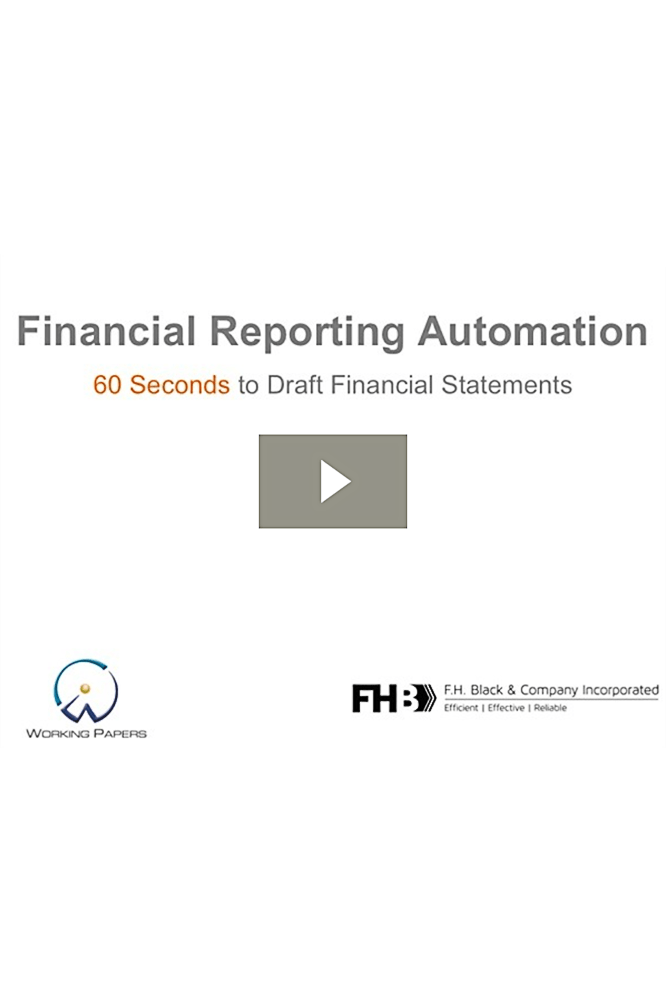 Draft financial statements in 60 seconds with CaseWare